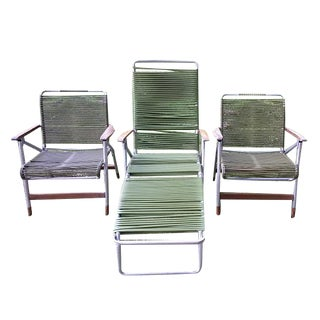 Vintage Mid Century Tube Folding Lawn Chairs - 3