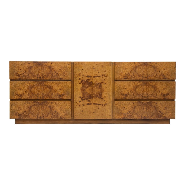 Olive Burl Wood Credenza or Dresser by Milo Baughman for Lane - Image 1 of 8